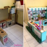 Cardboard Play Kitchen Mom: Creating For Her Beloved Child