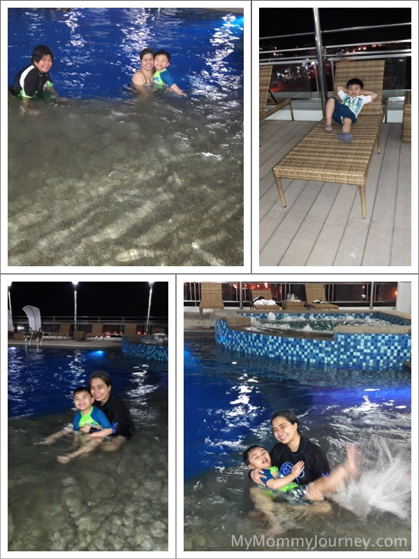 subic hotel, pool, night swimming