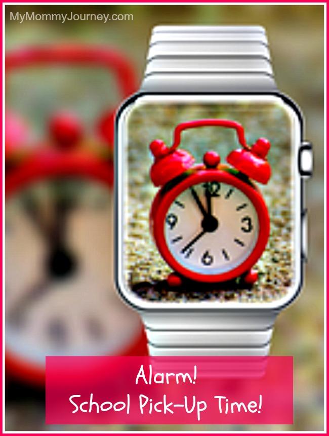 alarm school pick-up time