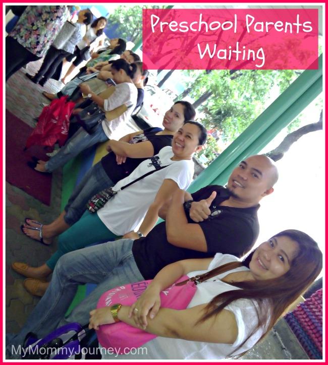 preschool parents waiting