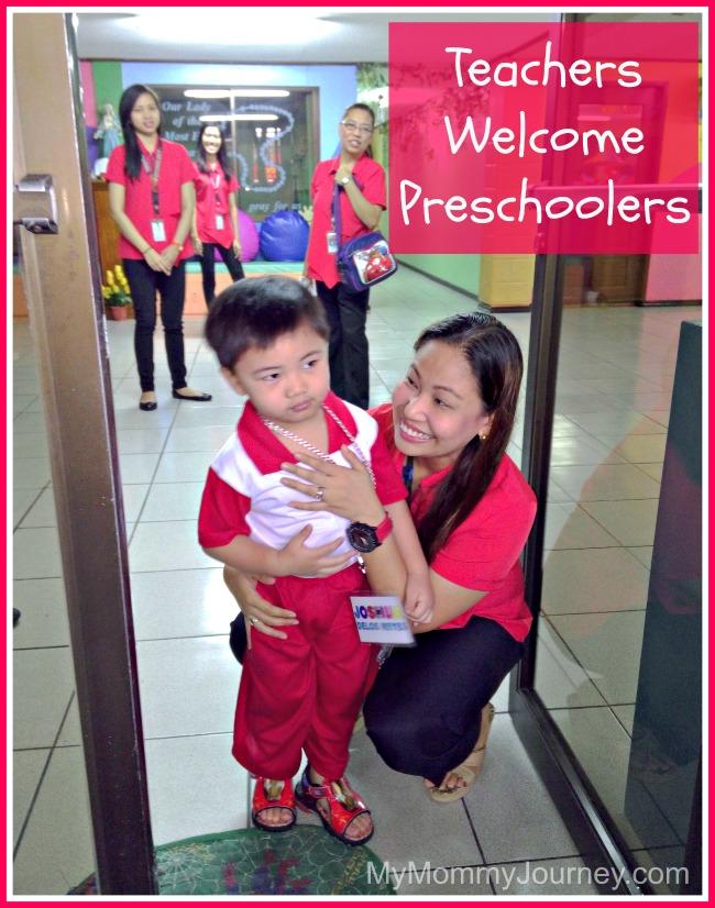 teacher welcome preschoolers
