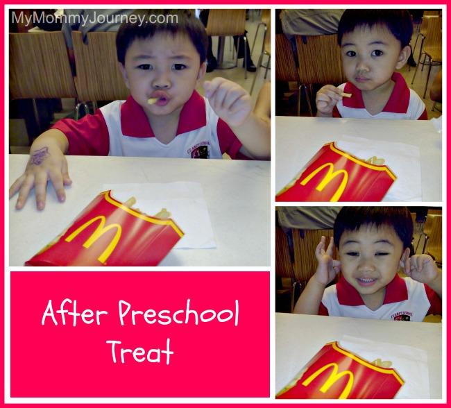 1st day of preschool treat