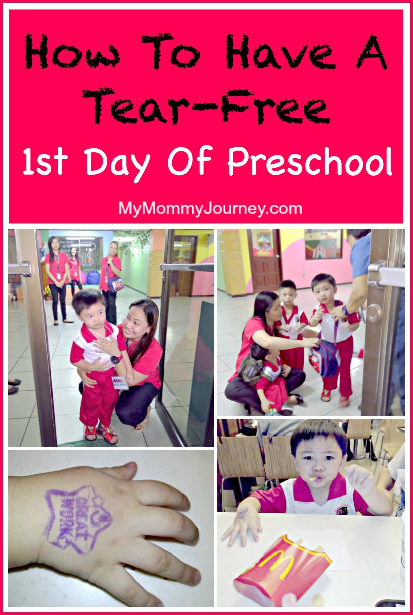 tear-free 1st day of preschool