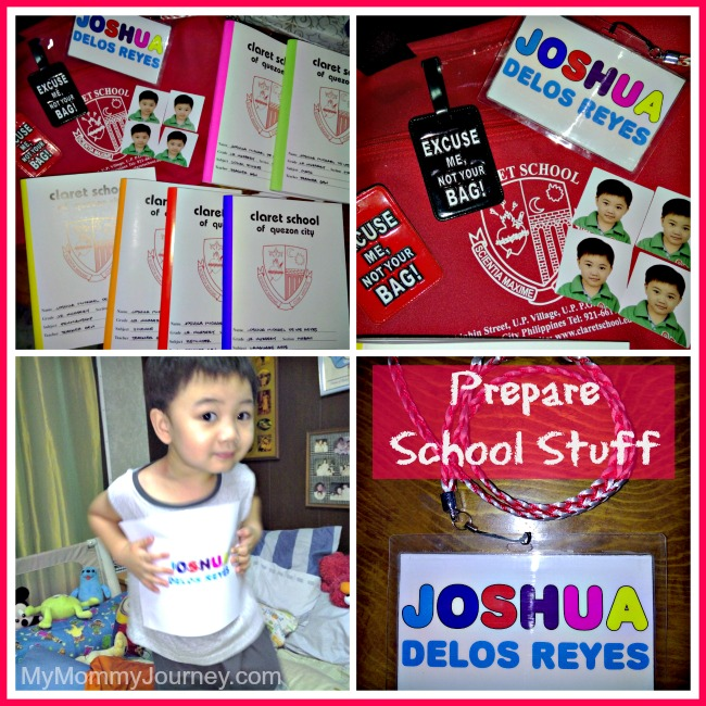 preparing for preschool, prepare school stuff