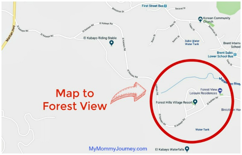 map to subic forest view, house to stay in subic, subic house, subic house for rent overnight, subic house near the beach, forest view, subic