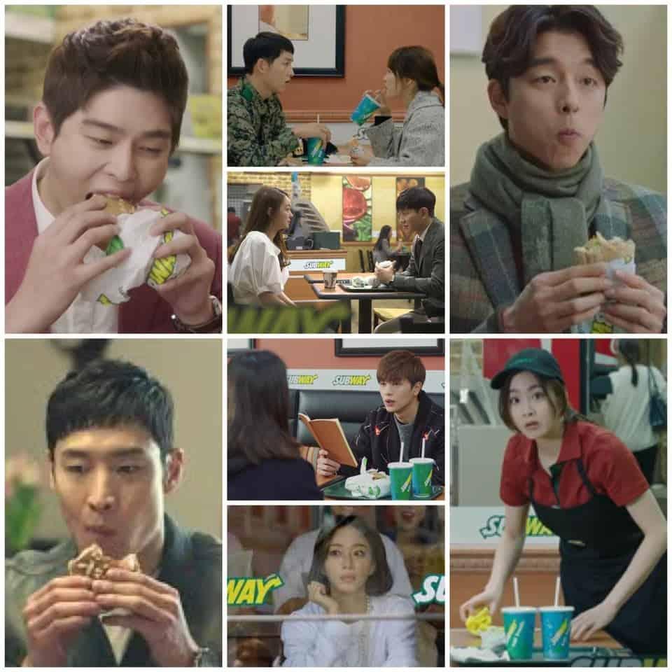 Korean drama eating Subway sandwich, Kdrama fan