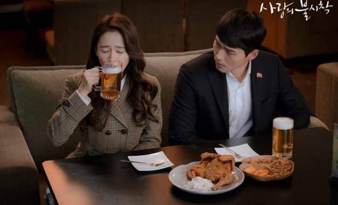 Crash Landing on You beer and chicken, Korean drama, Kdrama fan