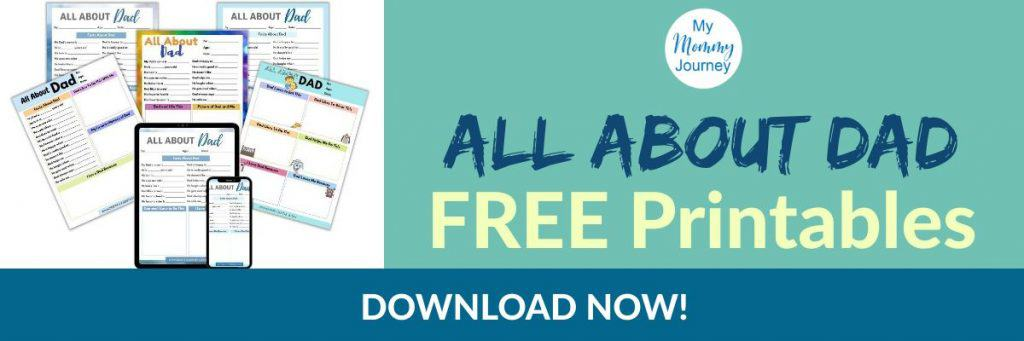 all about dad free printables