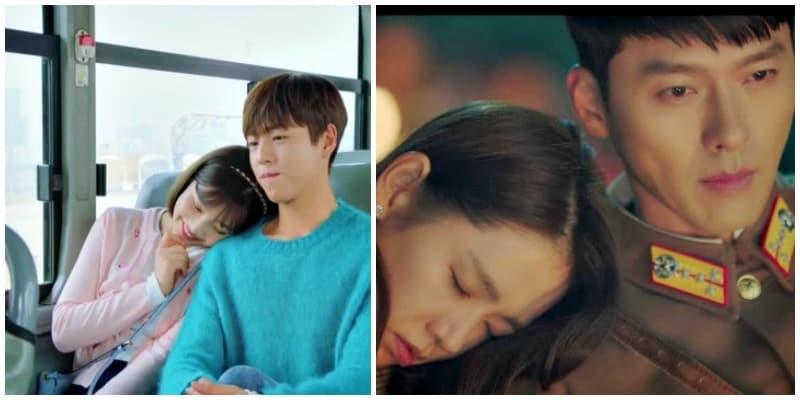 Korean drama put head on shoulder scene, Kdrama fan