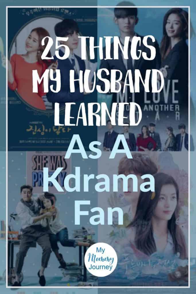 things my husband learned as a kdrama fan