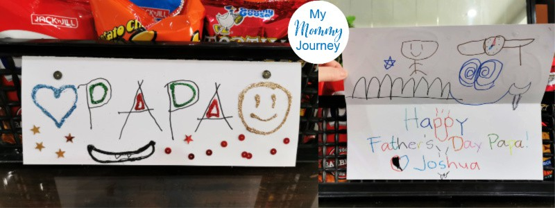 diy father's day gift surprise for husband card closeup