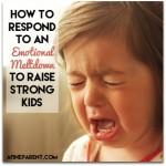 Kids Having Emotional Meltdowns?