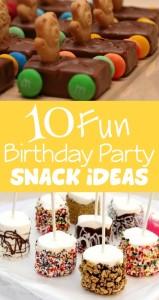 birthday party snacks, party snacks, snack ideas