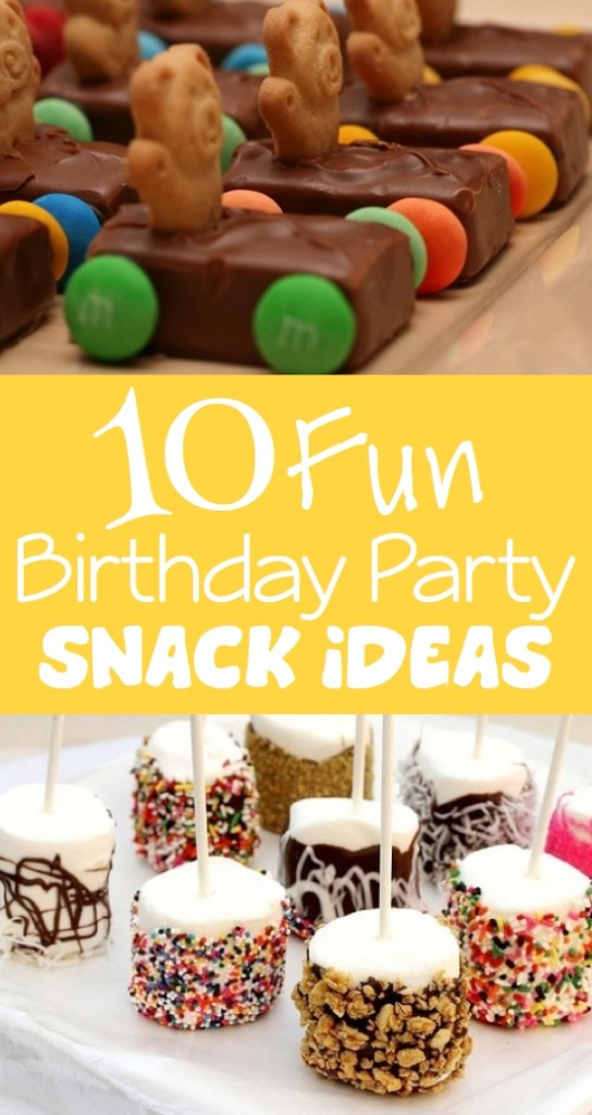 birthday party snacks, party snacks, snack ideas