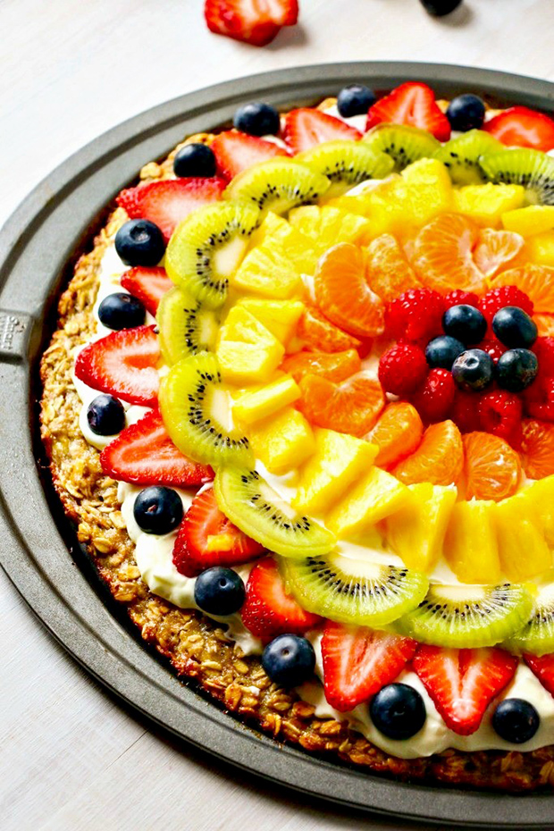 fruit pizza, healthy pizza