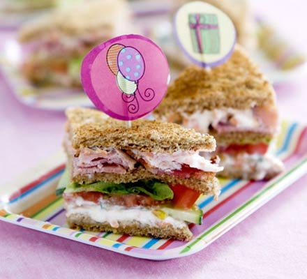 kids party snacks, sandwiches, kids sandwiches, party snacks