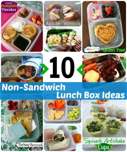 lunch box ideas, lunch box recipes, non-sandwich lunch ideas