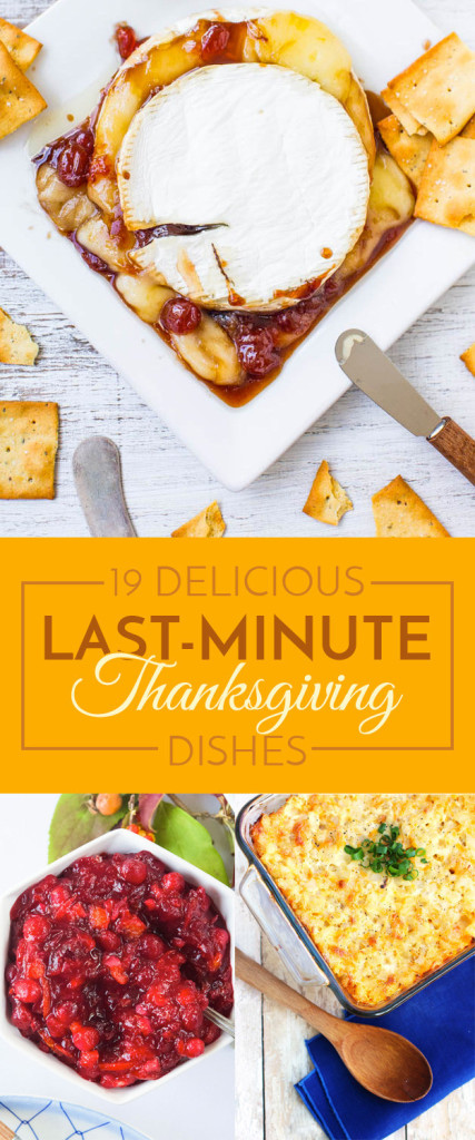 last-minute thanksgiving foods to make