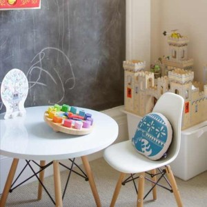 kids' bedroom ideas, kids' room with blackboard