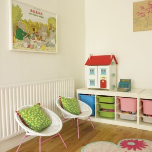 kids' bedroom ideas, kids' room toy bins, toy storage