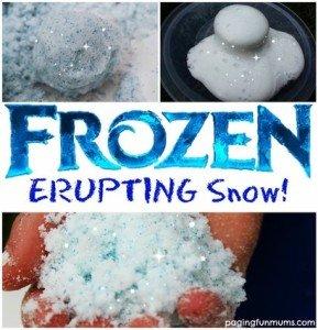 erupting snow, shaving cream art