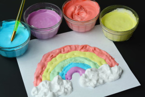 puffy paint, shaving cream art