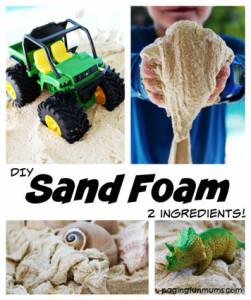 sand foam, shaving cream art