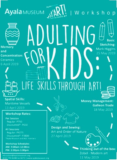 ayala museum, summer art classes, summer classes for kids, summer classes for kids 2019