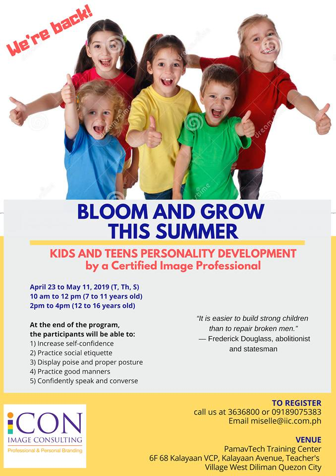 personality development, personality development summer workshop, summer classes for kids, summer classes for kids 2019