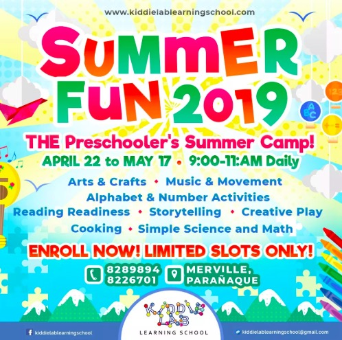 kiddie lab, summer fun, summer classes for toddlers, summer classes for kids, summer classes for kids 2019