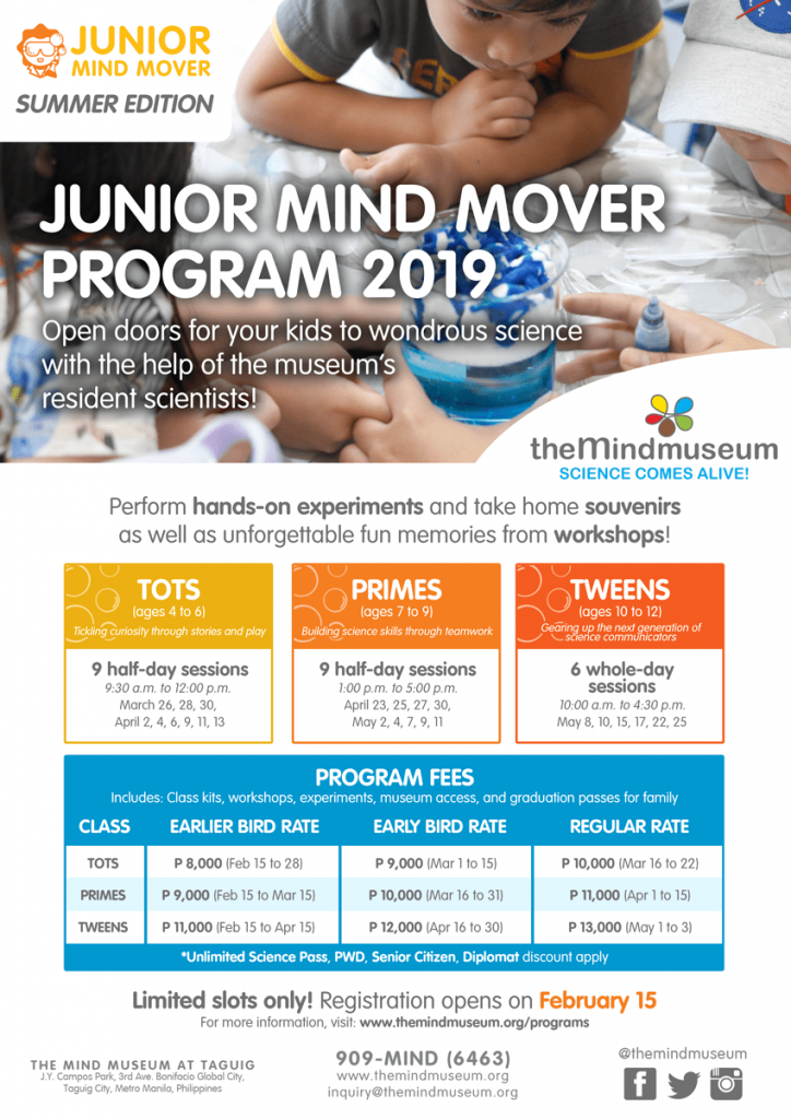 mind museum, mind museum summer classes, summer classes for kids, summer classes for kids 2019