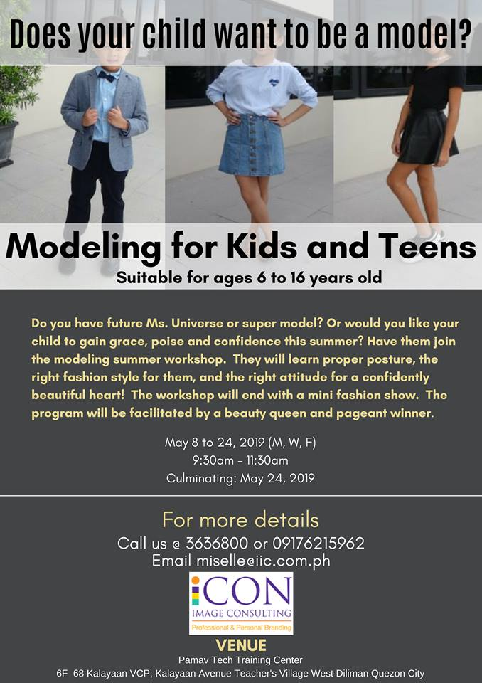 summer modeling workshop, modeling summer classes, summer classes for kids, modeling for kids, summer classes for kids 2019