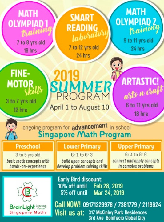 singapore math, brainlight singapore math, math summer classes, summer classes for kids, summer classes for kids 2019
