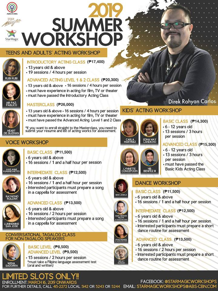 star magic, summer workshop, abs-cbn summer workshop, summer classes for kids, summer classes for kids 2019