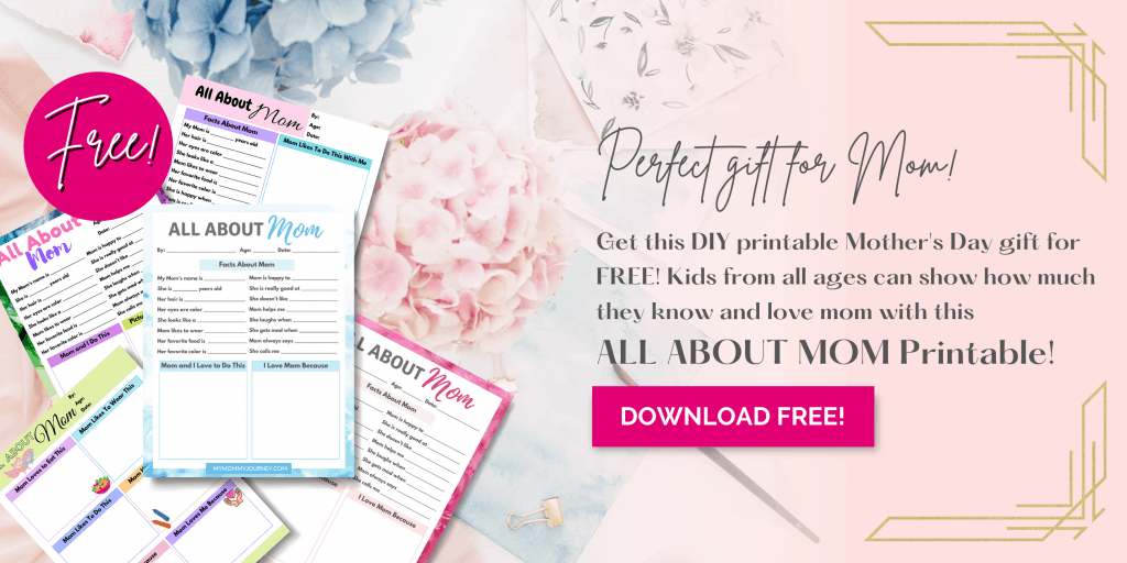 All About Mom Questionnaire Mother's Day gift for mom free printable