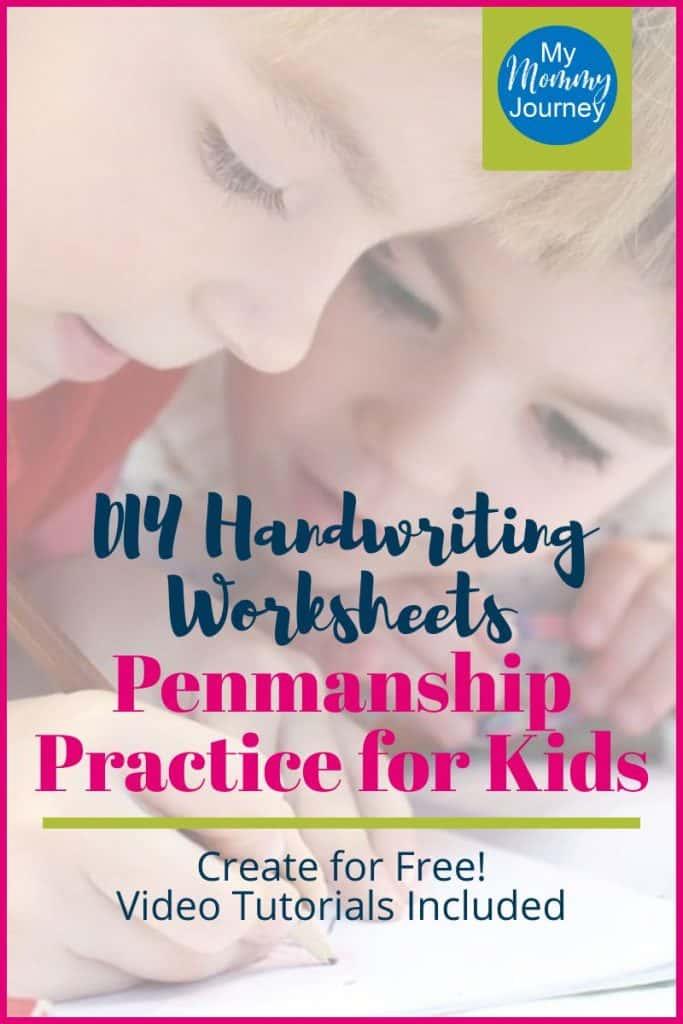 diy handwriting worksheets, penmanship for kids, free handwriting worksheets