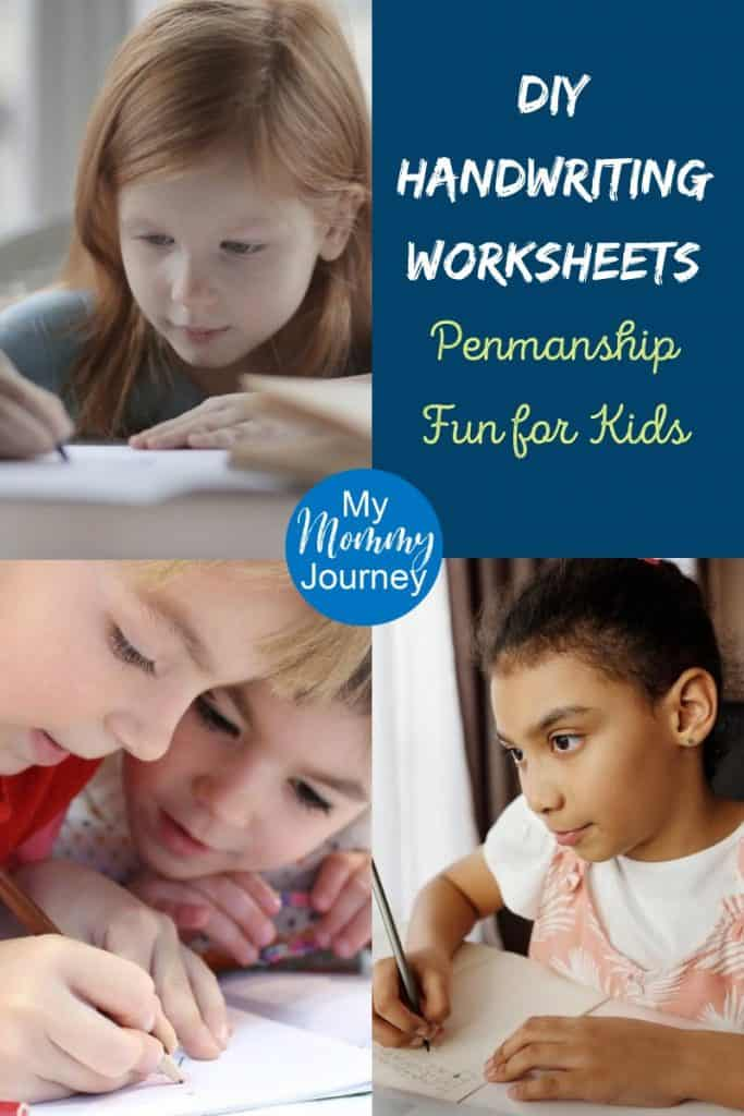 diy handwriting worksheets, penmanship practice for kids, free handwriting worksheets