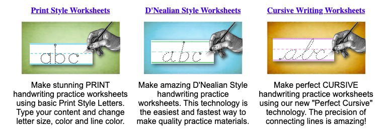 handwriting worksheets, penmanship worksheets, handwriting practice