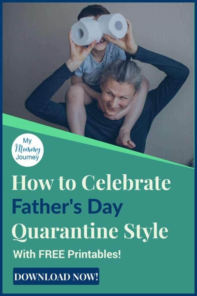 father's day quarantine, father's day lockdown celebration