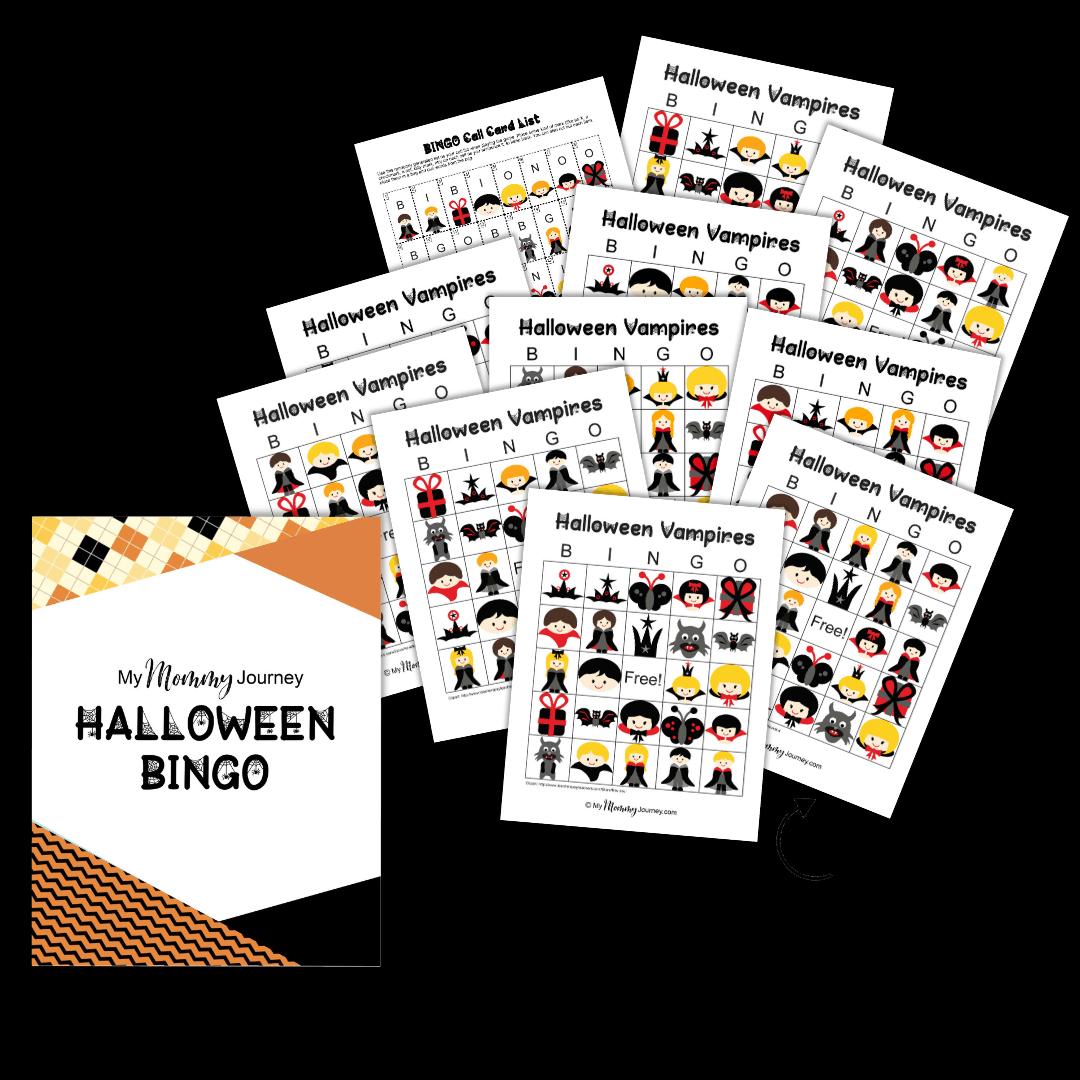Halloween Bingo Cards Portrait