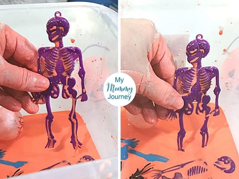 Halloween Oobleck skeleton standing