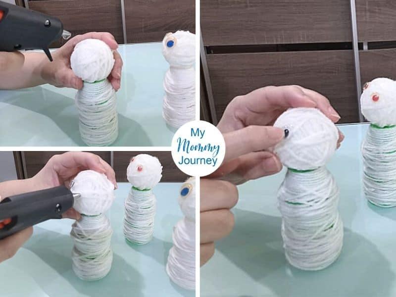 Yakult bottle craft mummy eyes