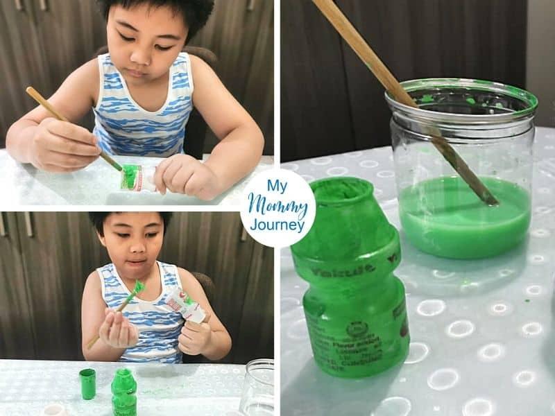 Yakult bottle craft painting
