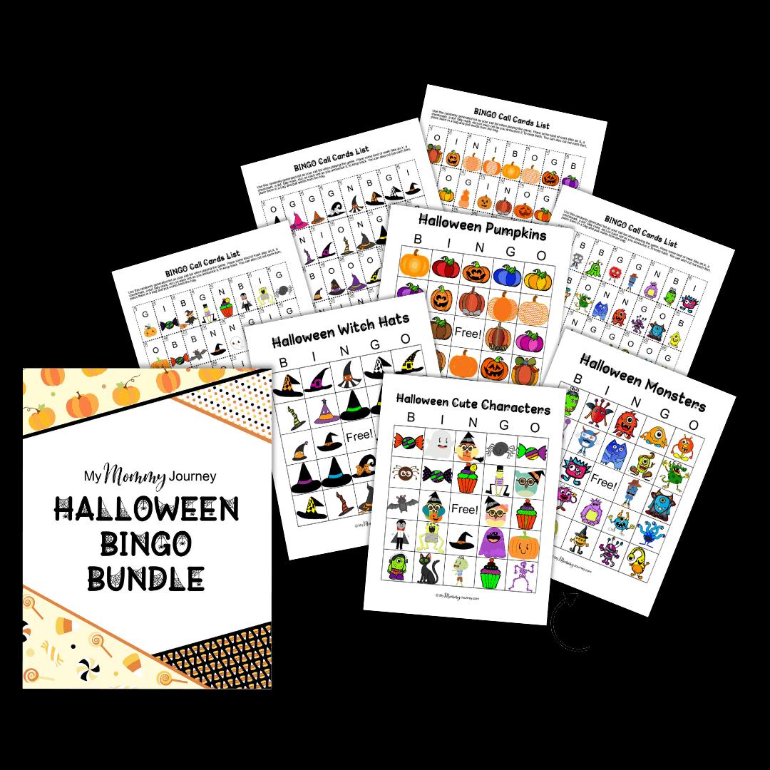 Halloween Bingo bundle portrait style