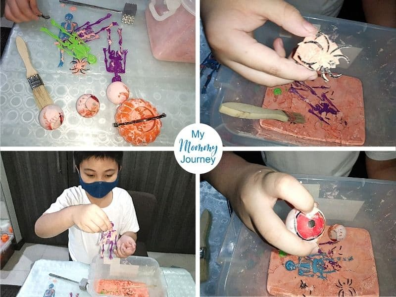 Halloween Excavation activity for kids fun digging for toys