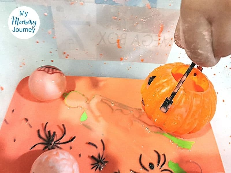 Halloween Oobleck with toys