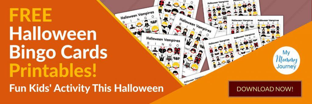 Free Halloween Bingo Cards Printable Set