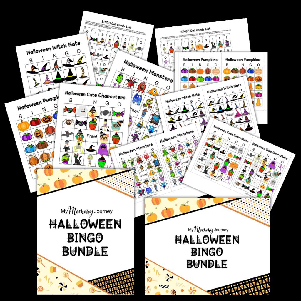 Halloween Bingo printable bundle