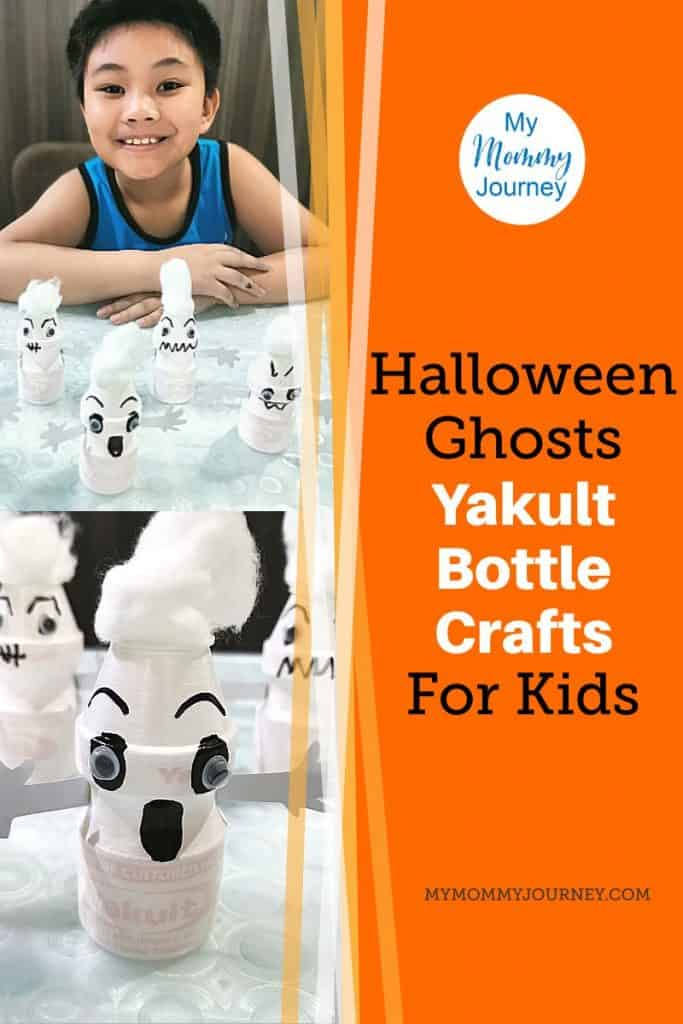 Yakult bottle ghost craft Pinterest pin