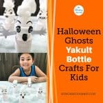 Halloween Ghosts Yakult Bottle Crafts for Kids